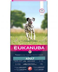 Eukanuba Chien Adult Grande Race Saumon & Orge 12 kg