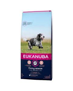 Eukanuba Chien Caring Senior Moyenne Race 15 kg - La Compagnie des Animaux