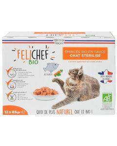 Felichef Emincés en sauce BIO au saumon 12 x 85 g