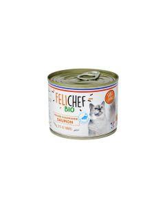 Felichef Mousses gourmandes BIO saumon sans céréales Chat 12 x 200 g