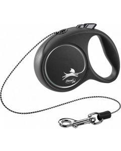 Flexi Black Design Laisse corde XS noir 3 m