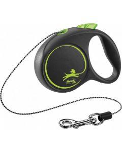 Flexi Black Design Laisse corde XS vert 3 m