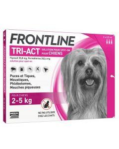 Frontline Tri Act spot on chiens 2 - 5 kg 3 pipettes- La Compagnie des Animaux