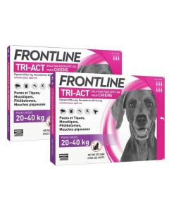 Frontline Tri Act spot on Grand Chien 20 - 40 kg 6 pipettes + 3 pipettes