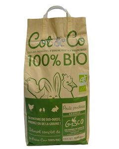 Gasco Cot & Co Bio Poule pondeuse 10 kg - La Compagnie des Animaux