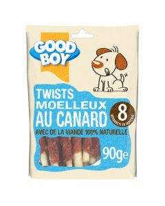 Good Boy Twists au Canard 90 grs - La Compagnie des Animaux