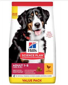 Hill's Science Plan Canine Adult Large Advanced Fitness au poulet 18 kg