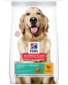 Hill's Science Plan Canine Adult Large Perfect Weight Poulet 12 kg