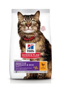 Hill's Science Plan Feline Adult Sensitive Stomach & Skin Poulet 1,5 kg