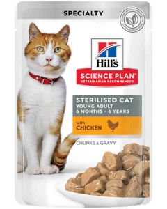 Hill's Science Plan Feline Young Adult Sterilised Poulet 12 x 85 grs