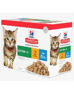 Hill's Science Plan Kitten Healthy Development Pack Mixte sachets 12 x 85 grs
