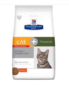 Hill's Prescription Diet Feline Metabolic + Urinary Stress 4 kg- La Compagnie des Animaux