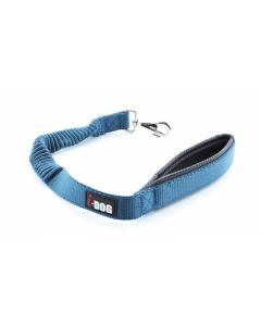 I-DOG Laisse Confort Elastique Bleu/Gris 60 cm - Dogteur