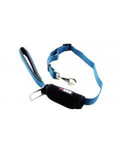 I-DOG Laisse Security Car Bleu/Gris 100cm - Dogteur