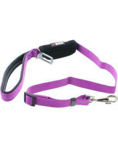 I-DOG Laisse Security Car Violet/Gris 100cm - La Compagnie des Animaux