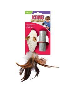 Kong Cat Refillable Feather Mouse jouet herbe à chat rechargeable - La Compagnie des Animaux