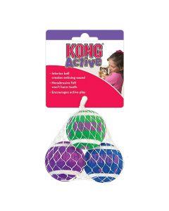 Kong Cat Tennis Balls balle avec clochettes pour chat (par 3) - La Compagnie des Animaux