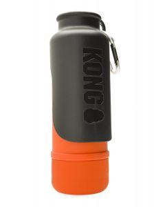 Kong H2O Bouteille d'eau en acier inoxydable isolé orange 739 ml - La Compagnie des Animaux