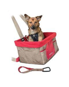 Kurgo Heather Siège rehausseur pour chien Beige et rouge