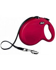 Laisse à enrouleur New Classic Flexi Cord L Rouge 8 m - La Compagnie des Animaux