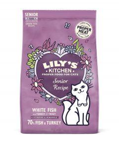 Lily's Kitchen Croquettes Sans Céréales au Poisson Chat Senior 800 g- La Compagnie des Animaux