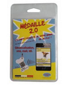 Médaille 2.0 QR pour chien 30 mm