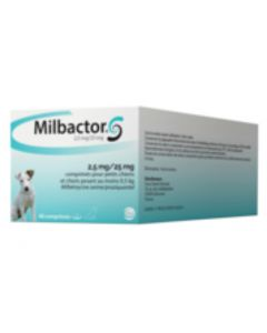 Milbactor Chiot & Chien entre 0,5 et 5 kg 2 cps