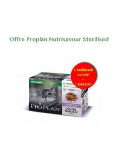 Purina Proplan Cat Nutrisavour Gelée Sterilised Dinde 10 x 85 g 1 acheté = 1 offert- La Compagnie des Animaux
