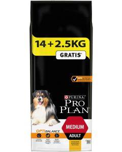 Purina ProPlan Dog Medium Adult OPTIBALANCE 14 kg + 2.5 kg Offerts- La Compagnie des Animaux