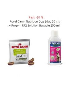 Pack -10 % : Royal Canin Nutrition Dog Educ 50 grs + Prozym RF2 Solution Buvable 250 ml