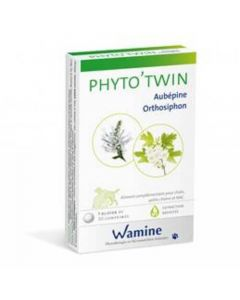 Wamine Phyto'Twin Aubépine Orthosiphon 30 cps - La Compagnie des Animaux