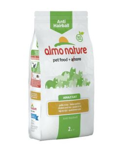 Almo Nature Chat Anti Hairball Poulet et riz 2 kg- La Compagnie des Animaux