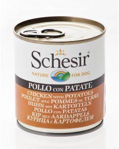 Schesir Poulet avec Pommes de terre en gelée pour chien 16 x 285 g - La Compagnie des Animaux