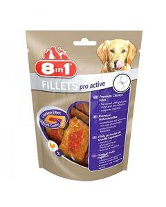 8in1 Fillets Pro Active pour chien 80 g MULTIPACK lot de 8
