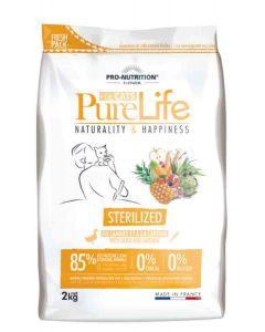 PureLife Croquettes Chat Sterilized 2 kg- La Compagnie des Animaux