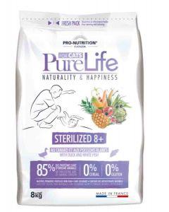 PureLife Croquettes Chat Sterilized 8+ 8 kg- La Compagnie des Animaux