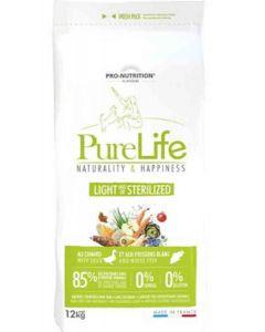 PureLife Croquettes Light / Sterilized pour chien 12 kg- La Compagnie des Animaux