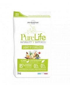 PureLife Croquettes Light / Sterilized pour chien 2 kg- La Compagnie des Animaux