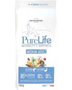 PureLife Croquettes Medium Adult pour chien 12 kg- La Compagnie des Animaux