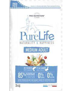 PureLife Croquettes Medium Adult pour chien 2 kg- La Compagnie des Animaux