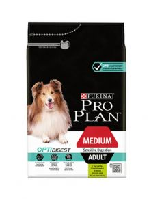 Purina Pro Plan Dog Medium Adult Sensitive Digestion Agneau OPTIDIGEST 14 kg- La Compagnie des Animaux