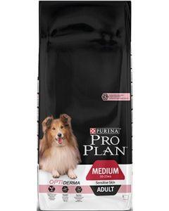Purina Pro Plan Dog Medium Adult Sensitive Skin Saumon OPTIDERMA 14 kg