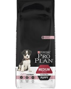 Purina Pro Plan Dog Medium Puppy Sensitive Skin OPTIDERMA 12 kg