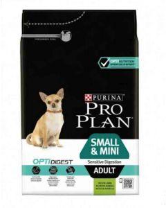 Purina ProPlan Dog Small & Mini Adult Sensitive Digestion OPTIDIGEST Agneau 3 kg- La Compagnie des Animaux