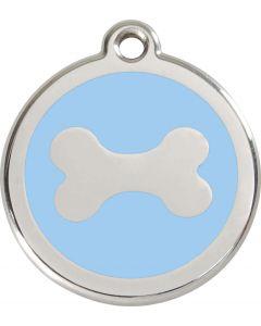 """RedDingo Médaille d'identité """"Os"""" bleu ciel - La Compagnie des Animaux"""