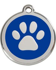 """RedDingo Médaille d'identité """"Patte"""" bleu - La Compagnie des Animaux"""