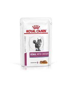 Royal Canin Veterinary Cat Renal Poulet Sachet 12 x 85 grs
