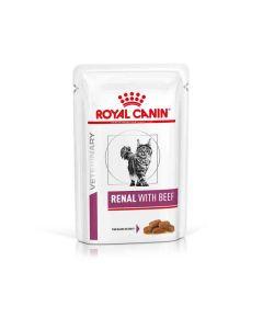 Royal Canin Veterinary Cat Renal Boeuf Sachet 12 x 85 grs