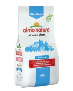 Almo Nature Chat Sterilised Boeuf et riz 400 grs