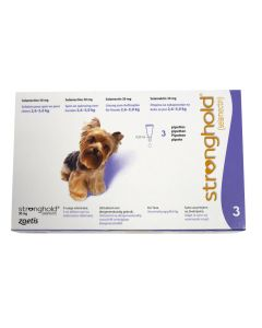 Stronghold 30 mg Chien moins 5 kg 3 pipettes